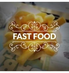 Fast food logo retro vintage typography lettering vector