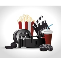 Cinema entertainment design vector