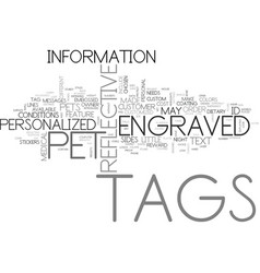 A look at custom pet tags text word cloud concept vector