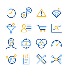 analytics icons set vector image