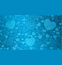 Background of hearts with swirls vector