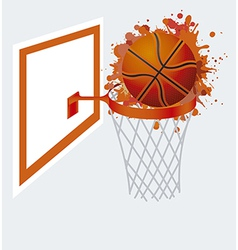 Basketball ball in basket vector