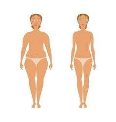 Body woman correction vector