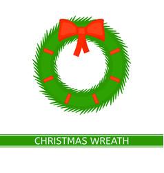 christmas wreath isolated vector image