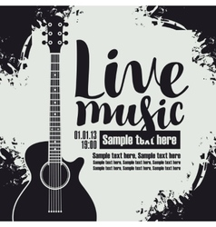 Concert live music vector