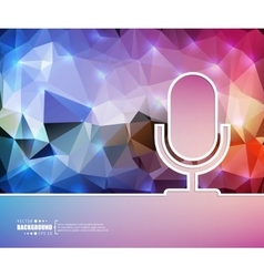 Creative microphone Art vector image