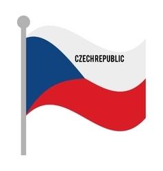 czech republic patriotic flag isolated icon vector image