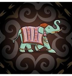 Emerald ethnic elephant vector image vector image