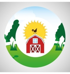 farm countryside weather vane design vector image vector image