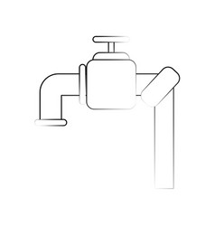 faucet water dripping vector image