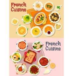 French cuisine national dish icon for menu design vector image vector image