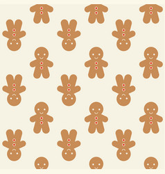 ginger bread man background for christmas vector image vector image