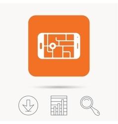 Gps street navigation icon smartphone sign vector
