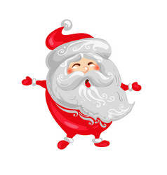 happy santa claus christmas and new year funny vector image vector image