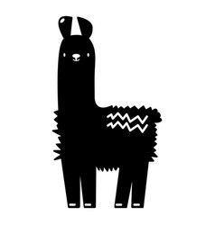 Llama icon simple black style vector