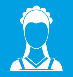 Maid icon white vector