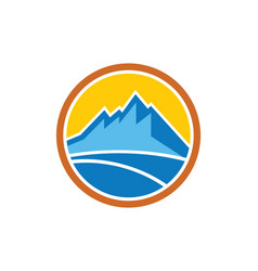 Mountain icon company logo vector