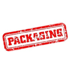 Packaging rubber stamp vector image vector image