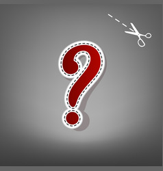Question mark sign red icon with for vector