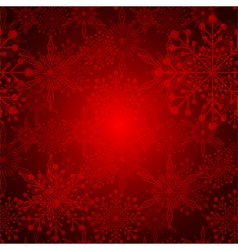 Red Christmas Snowflake Background vector image vector image