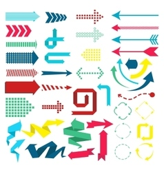Set of web elements in modern material design vector
