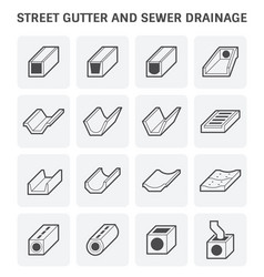 Street gutter icon vector