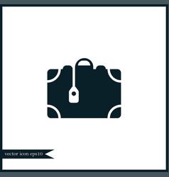 suitcase icon simple vector image