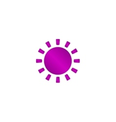 Sun Icon Flat design style eps 10 vector image vector image