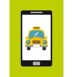 taxi service app smartphone vector image