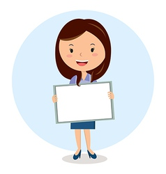 Teacher with whiteboard vector