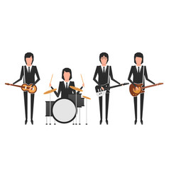 the beatles band topics vector image