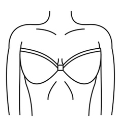 Women wearing in a bra icon simple style vector image vector image