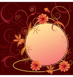 Floral ornate frame vector