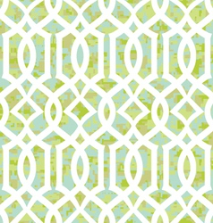 Seamless sunny morning trellis background pattern vector