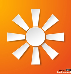 Abstract white paper sun vector image