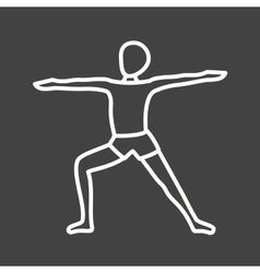 Warrior pose right vector