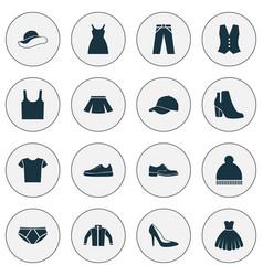 Dress icons set collection of heel footwear vector
