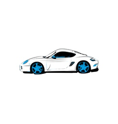 Abstract race car vector