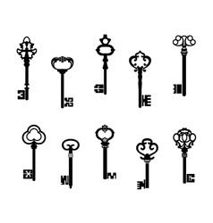 Old antique keys vector
