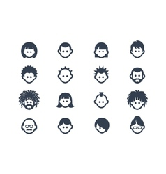 Avatar and user icons vector