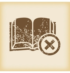 Grungy remove book icon vector