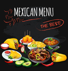 Mexican menu vector