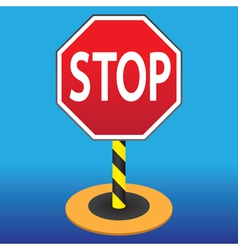 Road sign stop vector