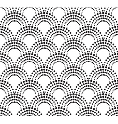 Geometric pattern with dotted arches vector