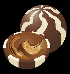 Chocolate candy vector