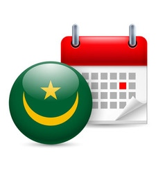 Icon of national day in mauritania vector