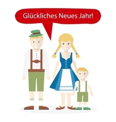 Germans People Congratulations Happy New Year vector image