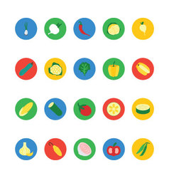 Fruit and vegetable icons 5 vector