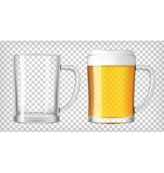 Two beer glasses vector image
