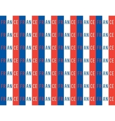 Seamless pattern in french patriotic style vector